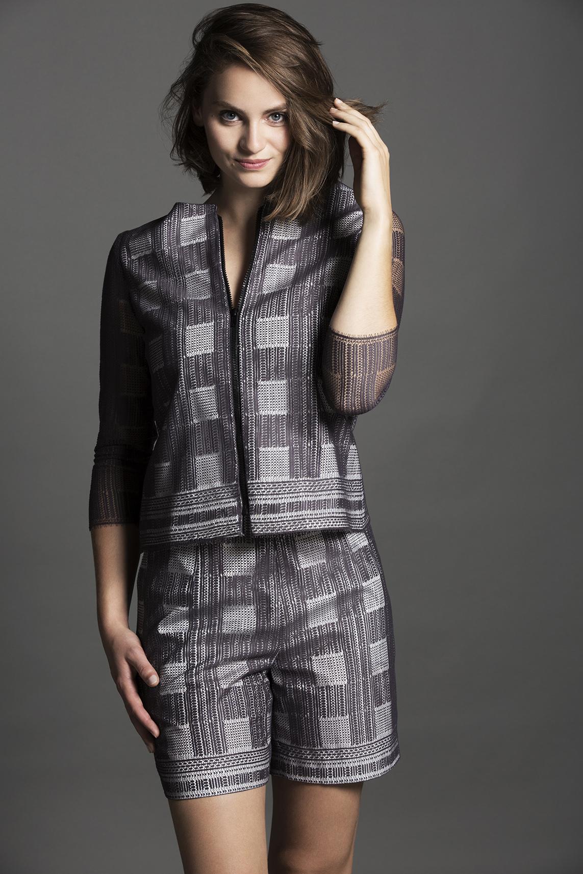 9eee6c0b8896 Collection Milan – Ensemble veste et short dentelle