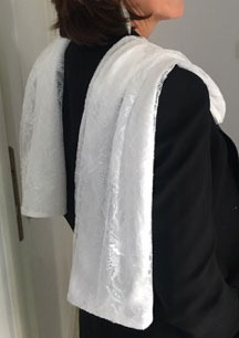 Etole dentelle blanche de Calais-Caudry - Signature-F 4ae1b7622a9