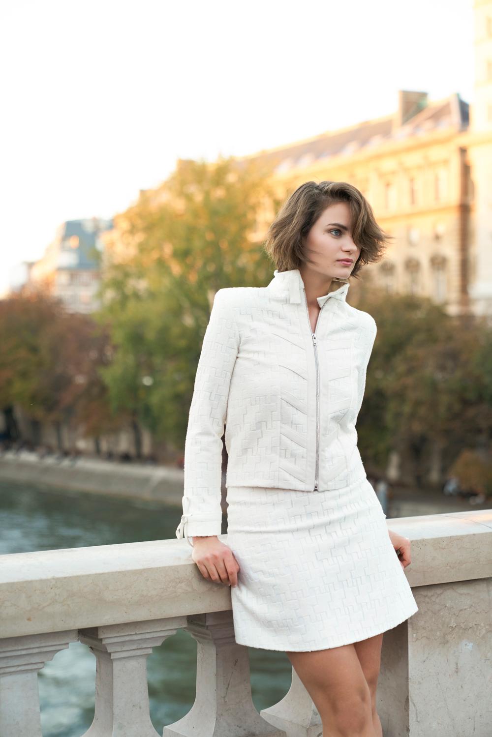 Veste blanche jupe